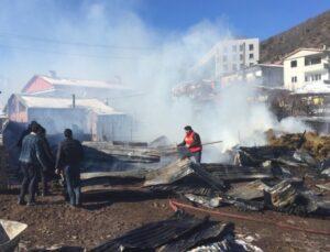 Artvin'de ahır yangını 27 küçükbaş hayvan telef oldu