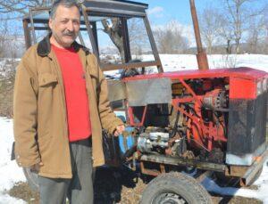 Çiftçi kendi traktörünü yaptı