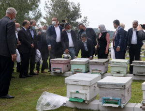 100 kadına, 1000 arı kovanı hibe edildi