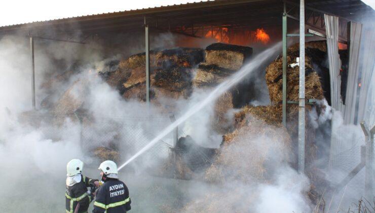 300 ton saman kül oldu