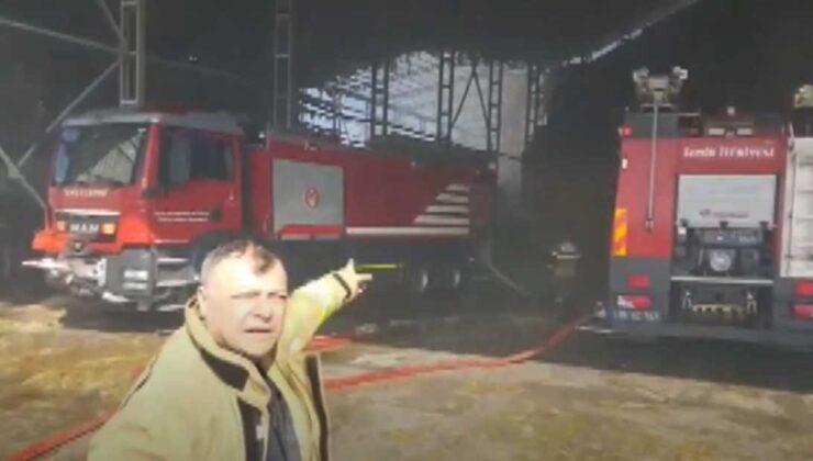 Bergama'da besi çiftliği yandı