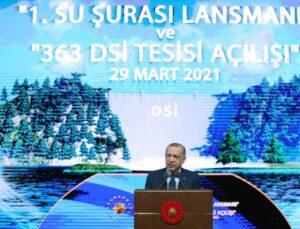 """Cumhurbaşkanı Erdoğan: """"Su stresi çeken bir ülkeyiz"""""""