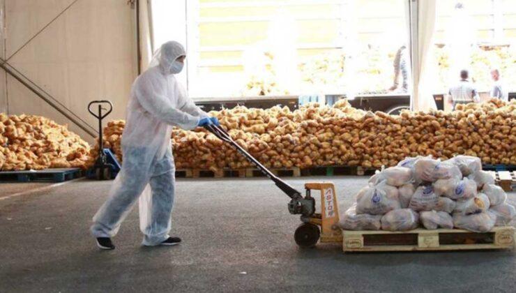 Çiftçilerden satın alınan ürünler İstanbul'da dağıtılmaya başlandı