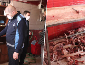 kaçak kesim 750 kilo et ile 120 kilo sakatata el konuldu