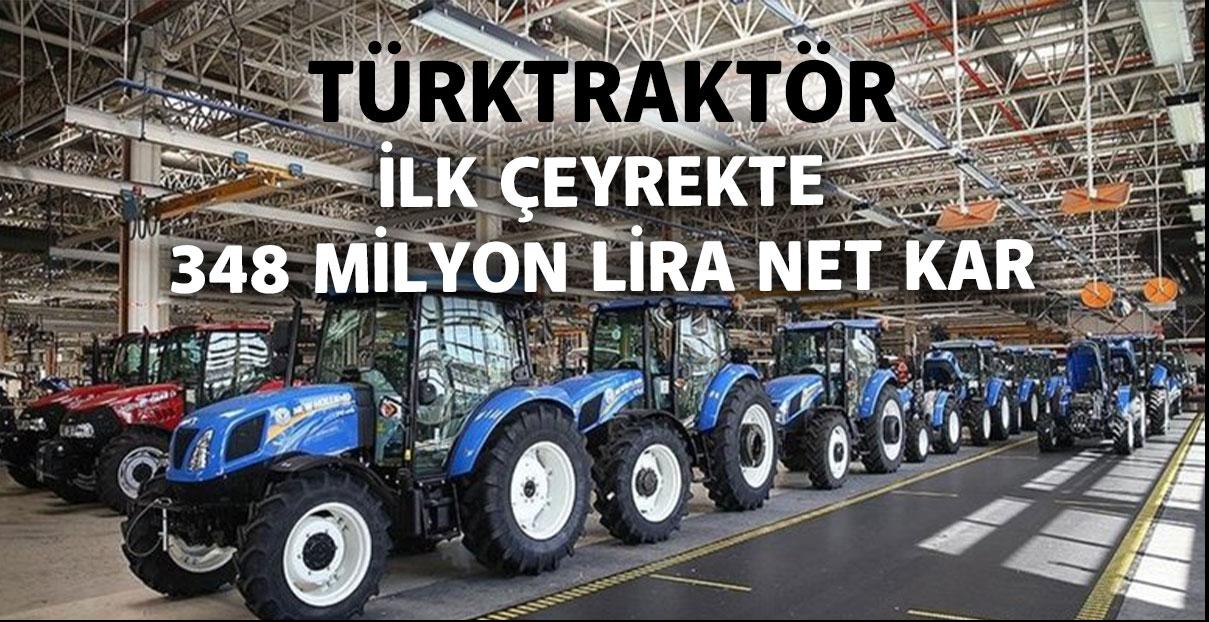 TürkTraktör'den ilk çeyrekte 348 milyon lira net kar