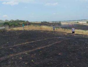 Anız yangınında 20 dönüm tarım arazisi zarar gördü