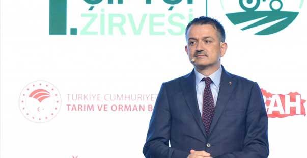 tarım ve orman bakanı pakdemirli, 1. türkiye çiftçi zirvesi'nde konuştu: