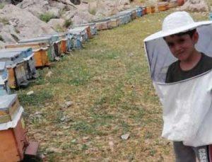 beş yaşındaki arıcı görenleri kendine hayran bırakıyor