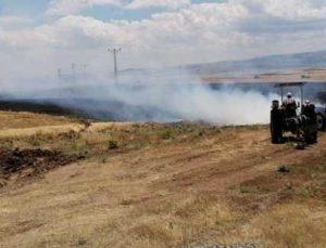 10 dönüm ekili alan yanarak kül oldu