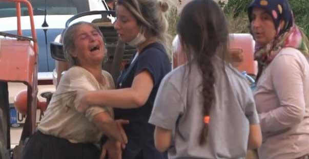 sera ve ağaçları yanan kadınlar gözyaşına boğuldu