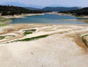 aslantaş barajı'nda korkutan kuraklık manzarası