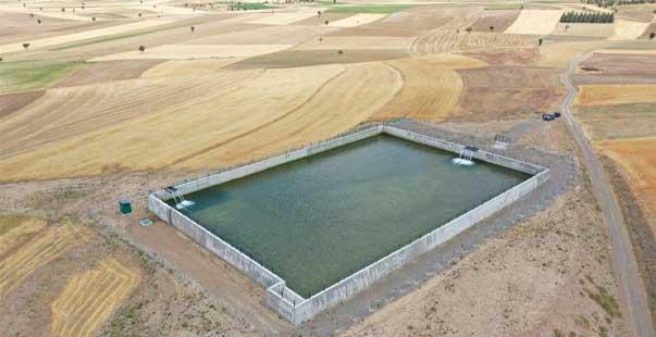 5 bin 480 dekar alan suni tesis ile sulamaya açıldı