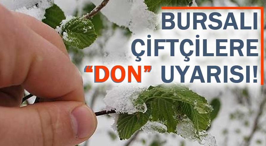 """Bursalılara eylül ayında """"don"""" uyarısı"""